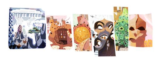 Antonio Gaudi's Google Doodle
