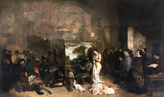 Gustave Courbet (1819-1877) The Artist's Studio, a real allegory summing up seven years of my artistic and moral life Between 1854 and 1855 Oil on Canvas H. 361; W. 598 cm Paris, musée d'Orsay © RMN-Grand Palais (Musée d'Orsay) / Hervé Lewandowski