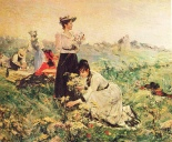Picnic in Normandy by Juan Luna