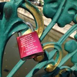 Love lock on a bridge